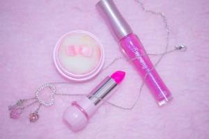 ピンクのメイク